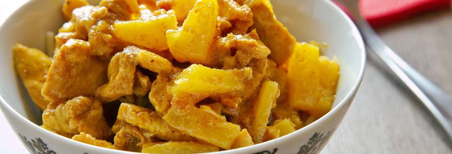 Tajine au poulet et à l'ananas