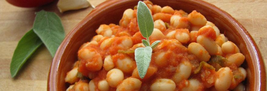 Haricots secs à la tomate
