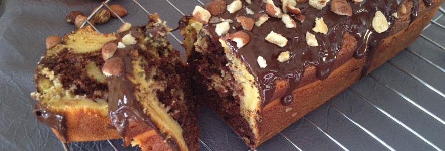Gâteau Marbré chocolat - noisettes