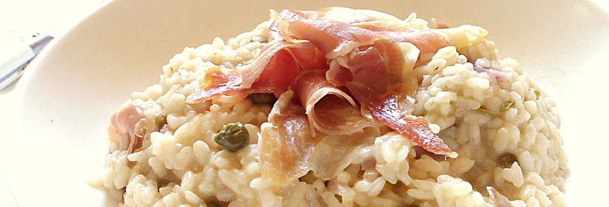 risotto au jambon